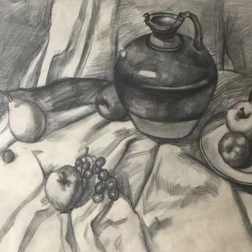 still life sketching drawing 2d illustration art