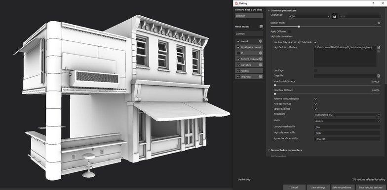 substance painter building render model architecture 3d