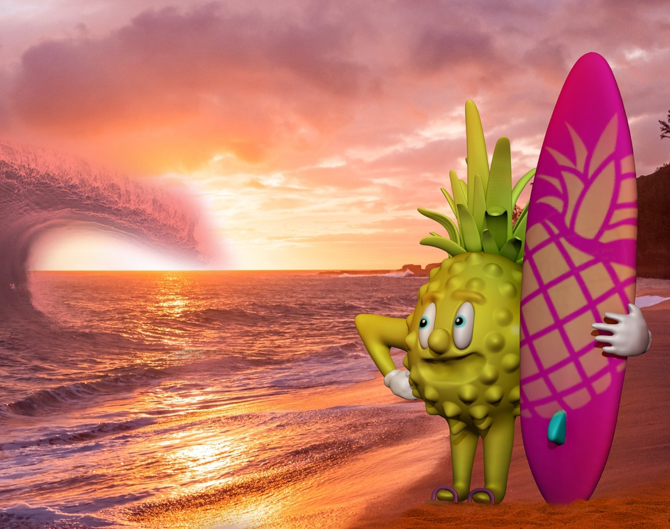 The Surf King - The coolest pineapple to chill withby Rafael Silva