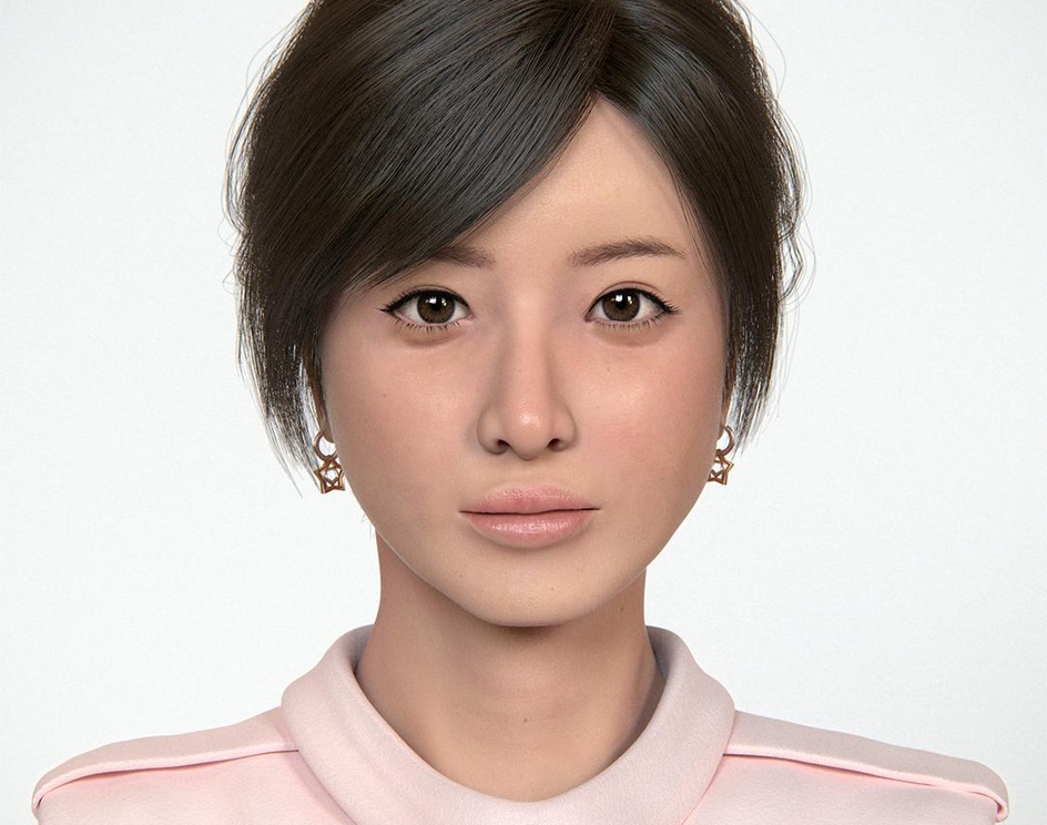 Actress, Realistic Portraitby Masayoshi Shinohara