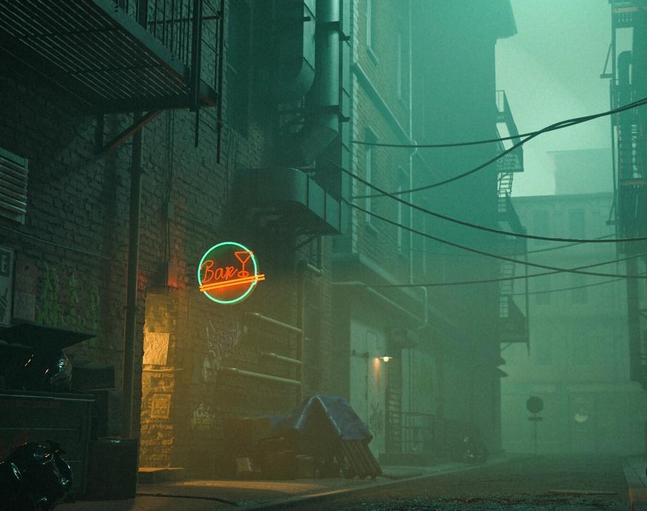 Night alleyby Matsuoka Taiki