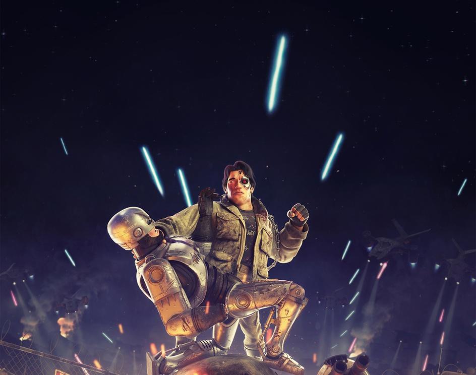 Terminator vs Robocopby Chris Cragg
