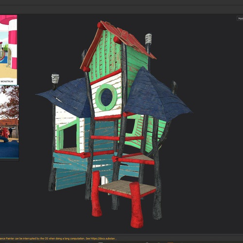 substance painter 3d model layers play house
