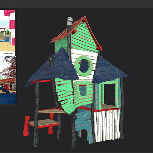 substance painter 3d model layers play house rendering
