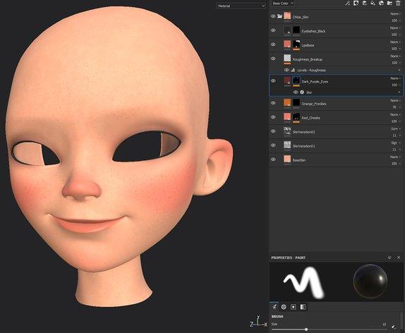 3d textureing a face
