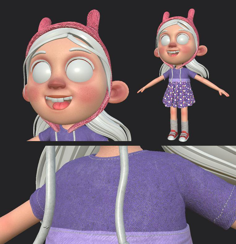 Giulia Marchetti childhood 3d cartoon texturing Substance Painter
