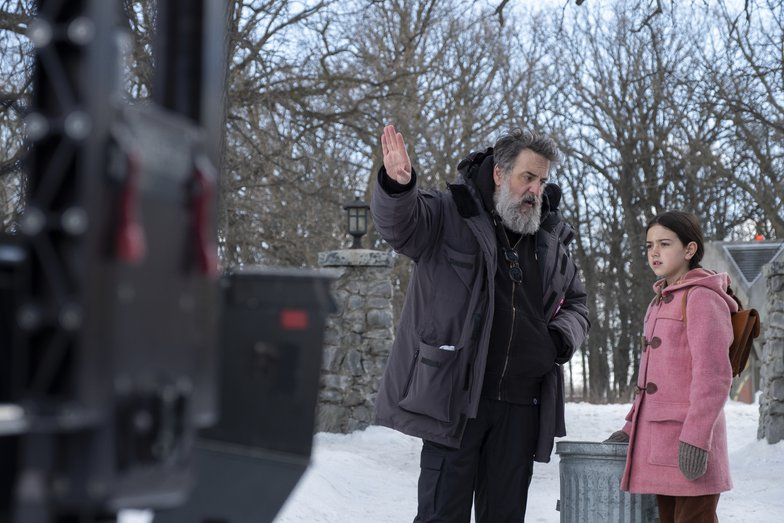 behind the scenes directing snow