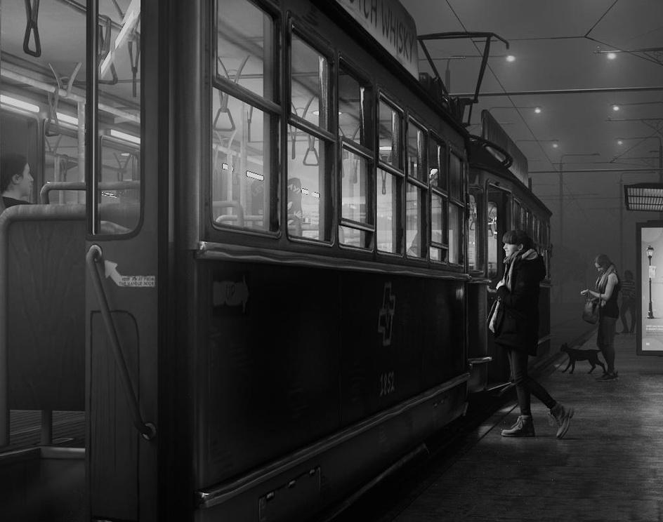 Tram stopby Nitin Mahale