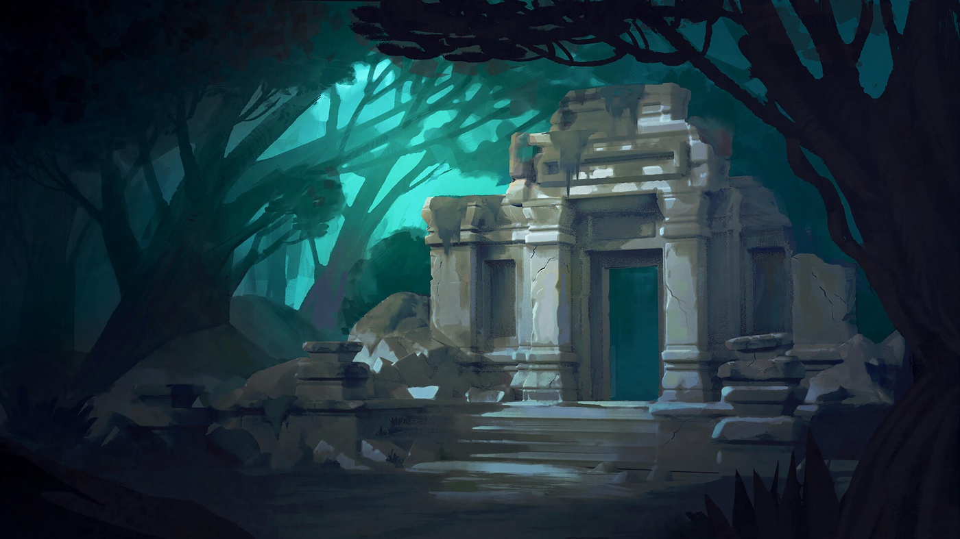 stone environment 2d illustration