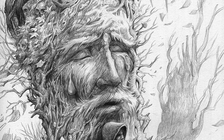crying tree sketch