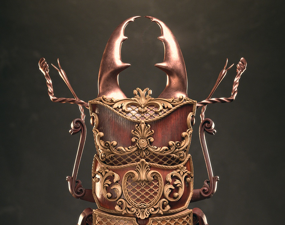 Cyclommatinus Bicolor   The Art Of 3D Insectsby Jesus Bibian