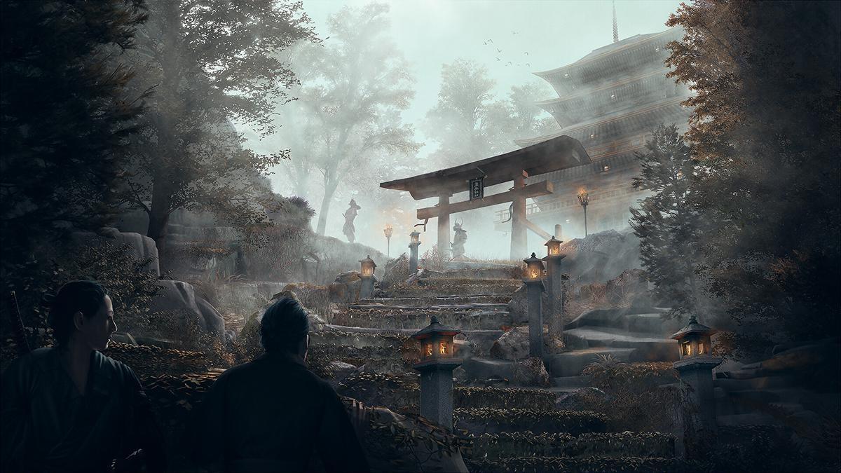 japanese temple samurai landscape