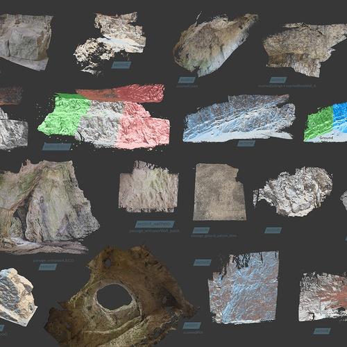 rocks materials locations realistic meshes 3d model