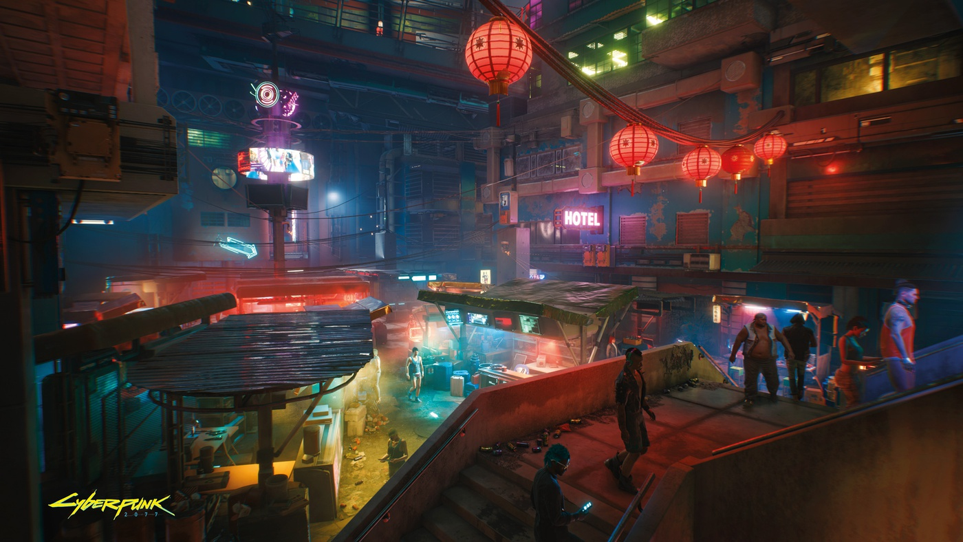 cyberpunk 2077 game cinematic sci-fi 3d shot graphics art