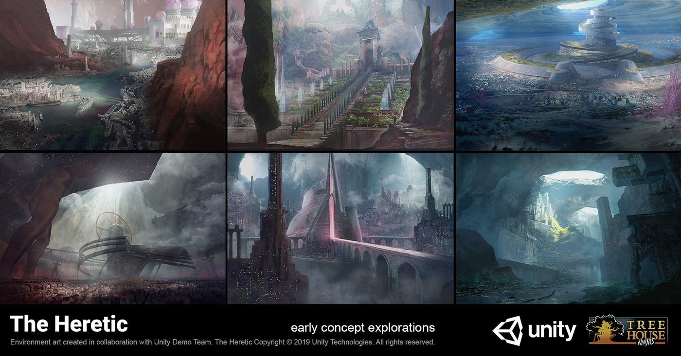 gaming the heretic early concept explorations 2d