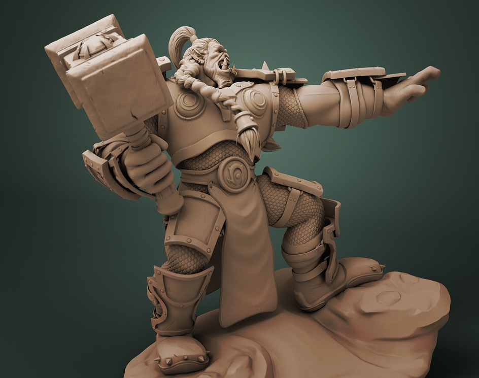 Thrall - Fan art Sculptureby Felipe Arias