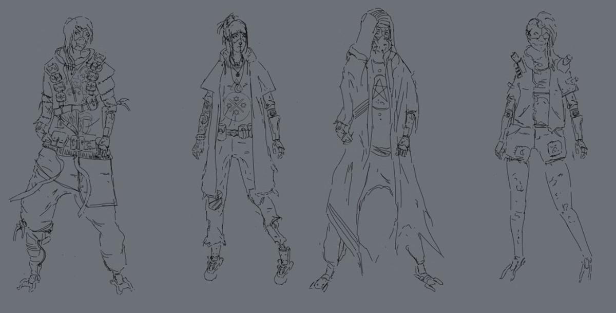 inking drawing figure design