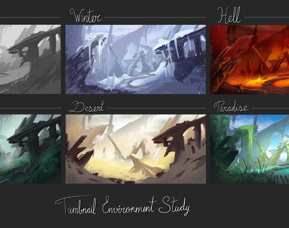 Thumbnail Environment Studyby Hoppie