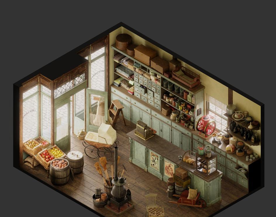 General Store Vintage - Isometricby joseolmedo