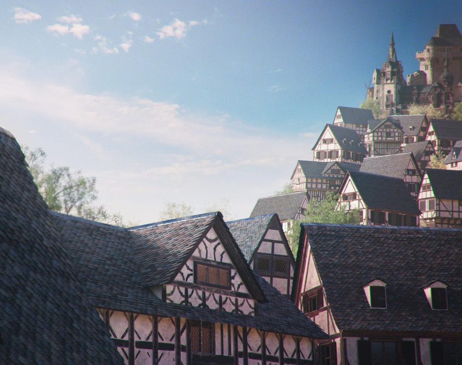 Medieval Townby MainBrain Art