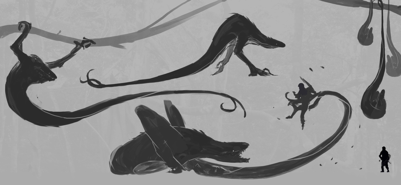 illustration alien creature design 2d model