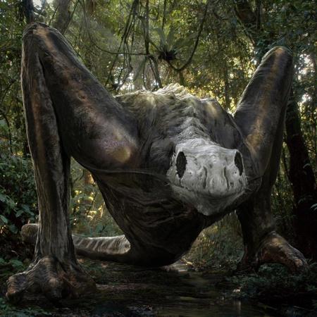king kong alien creature model 3d render cgi