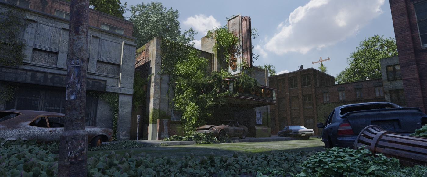 3d render realism the last of us inspired  model