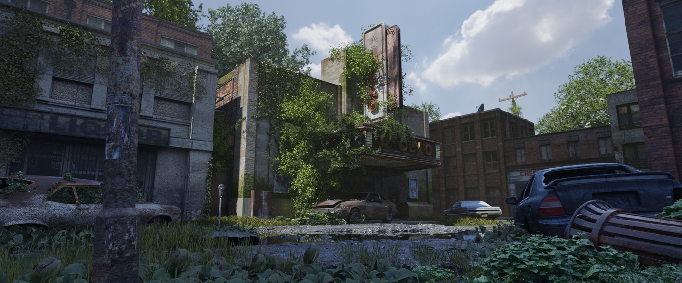 quixel megascans realistic ivy buildings cinema