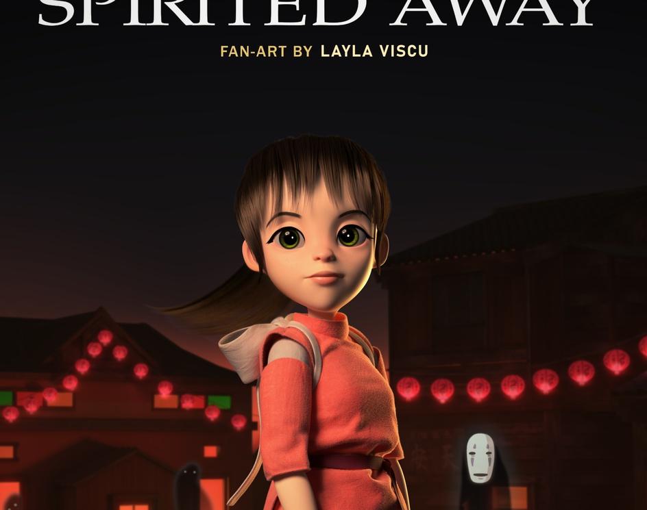 "Spirited away ""Chihiro"" fan-artby Layla Viscu"