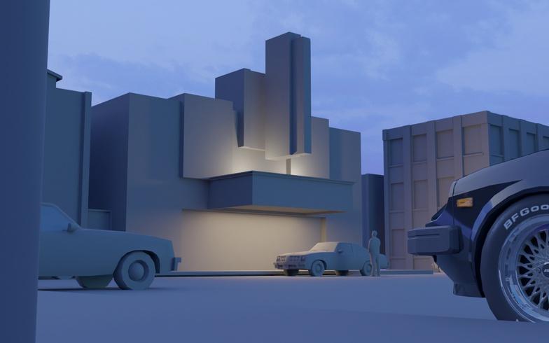 3d model scenery town basic environment