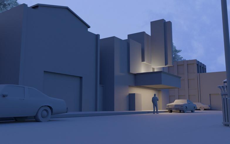 3d model scenery town  blender lighting effects