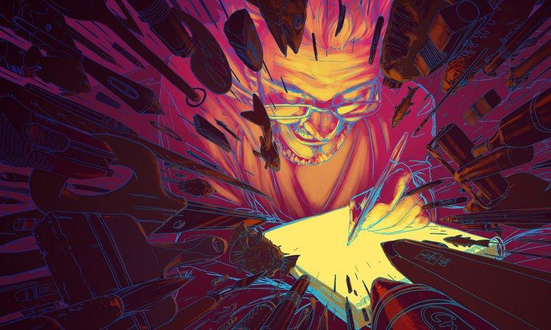 colour palettes line art experimenting 2d illustration