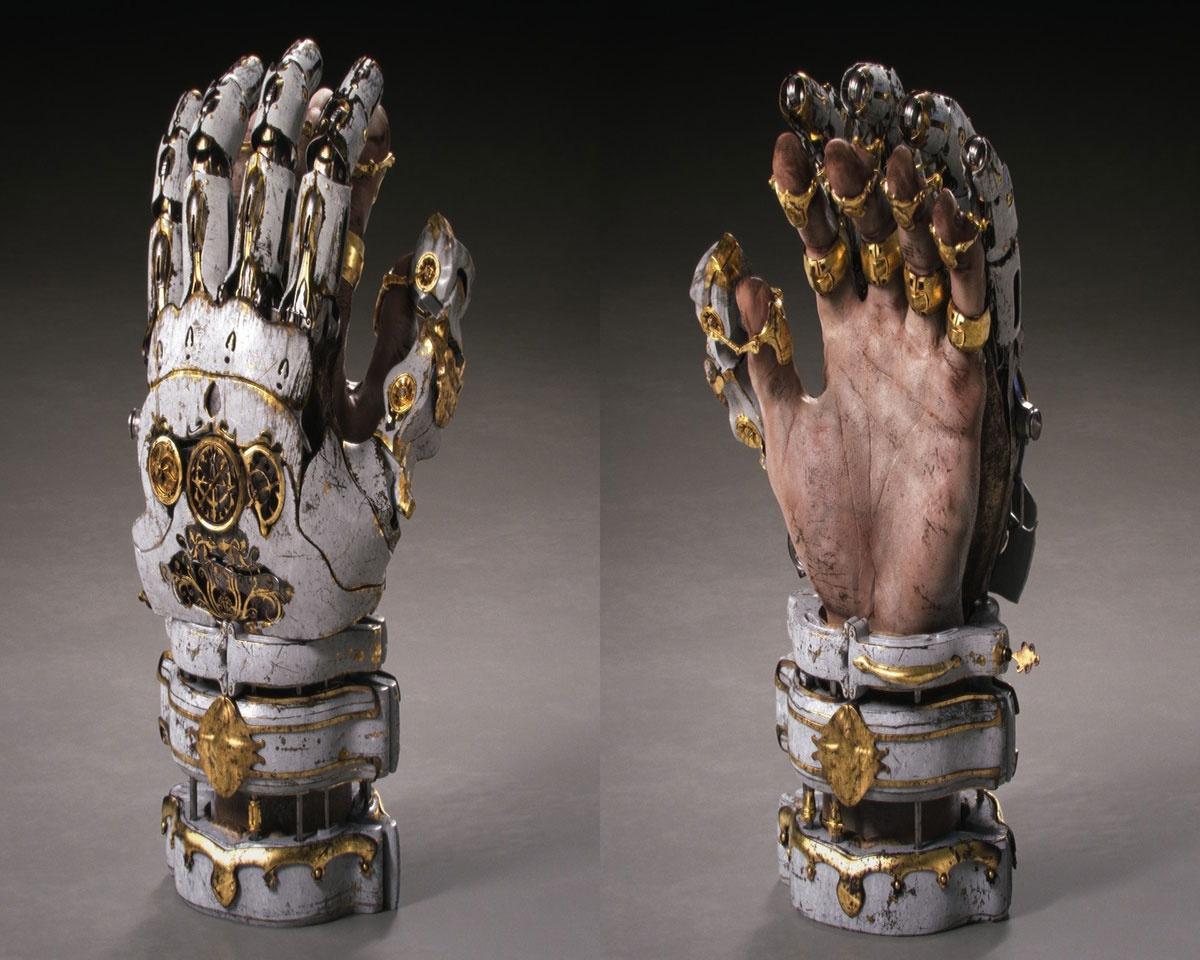 mechanical robotic hand armour