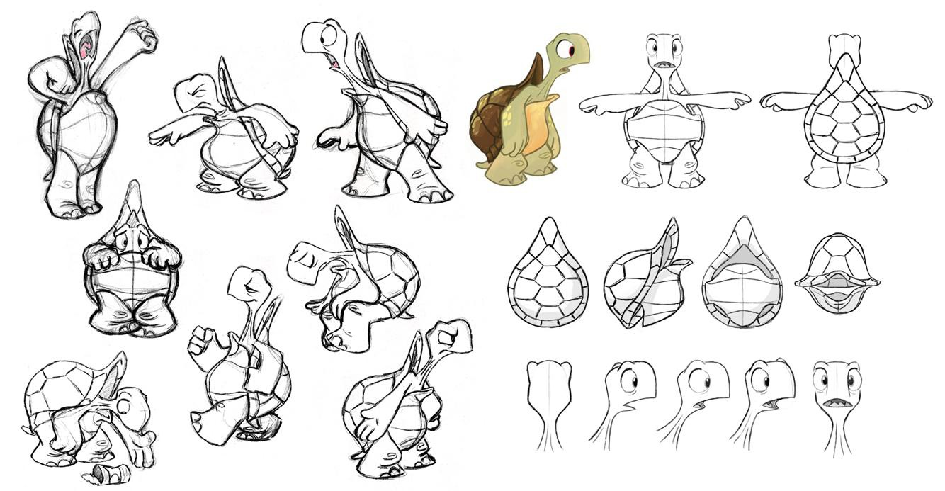 turtle doodles illustrations animal design sketch body shapes 2d