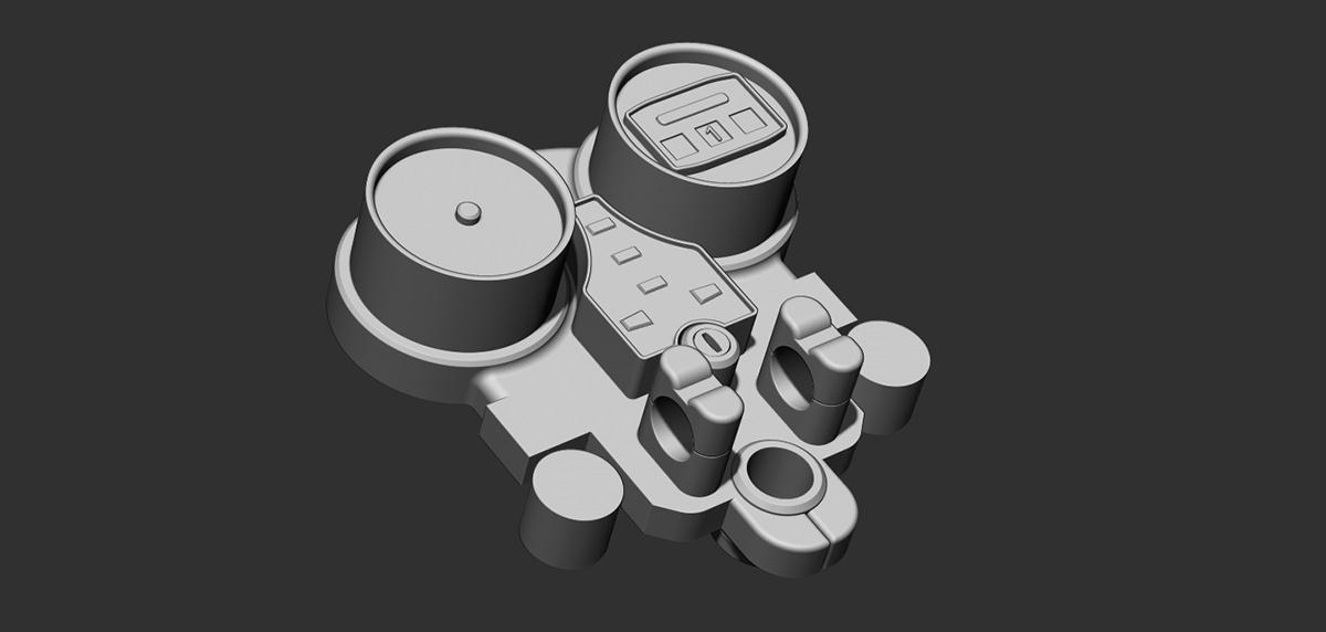 speedometer boolean objects  ZBrush Maya  retopology 3d