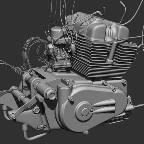 ZBrush Maya  Fusion  motorcycle rendering quality model 3d