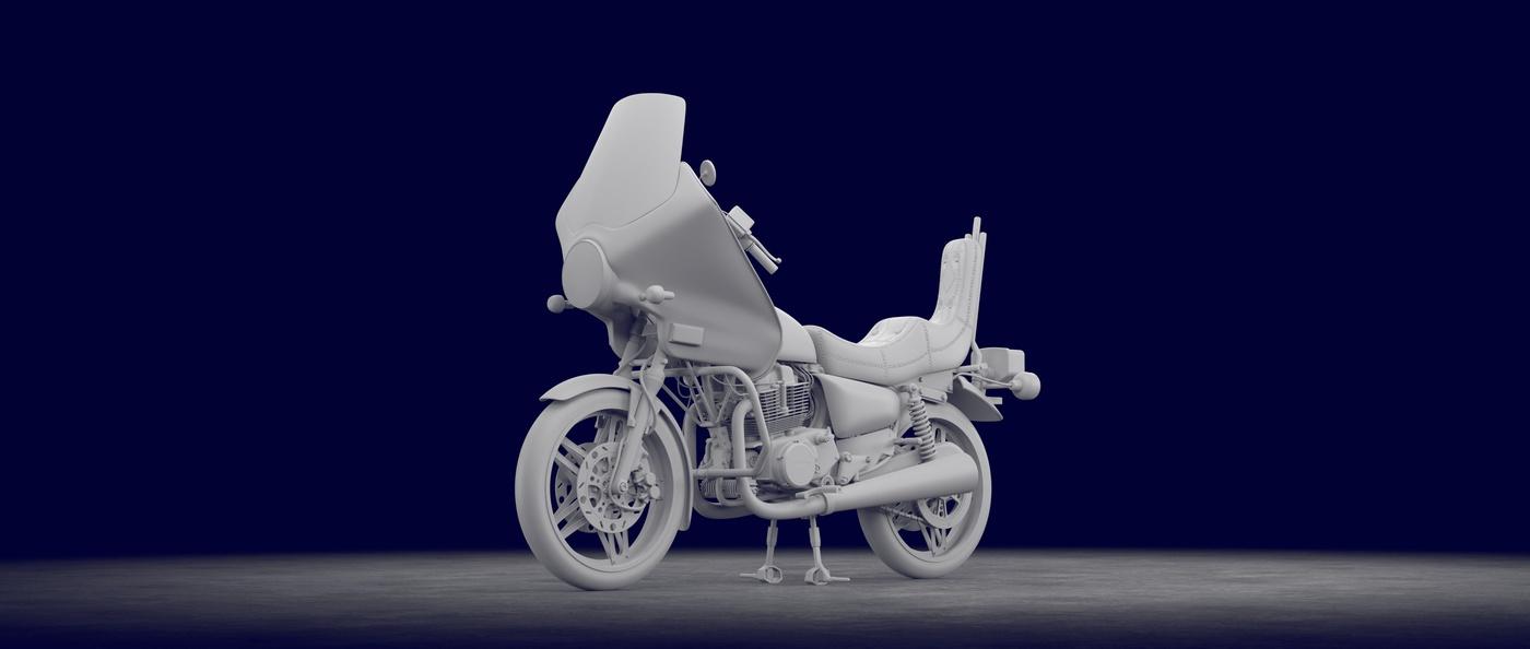 final base modeling bike motorcycle render detailing colour