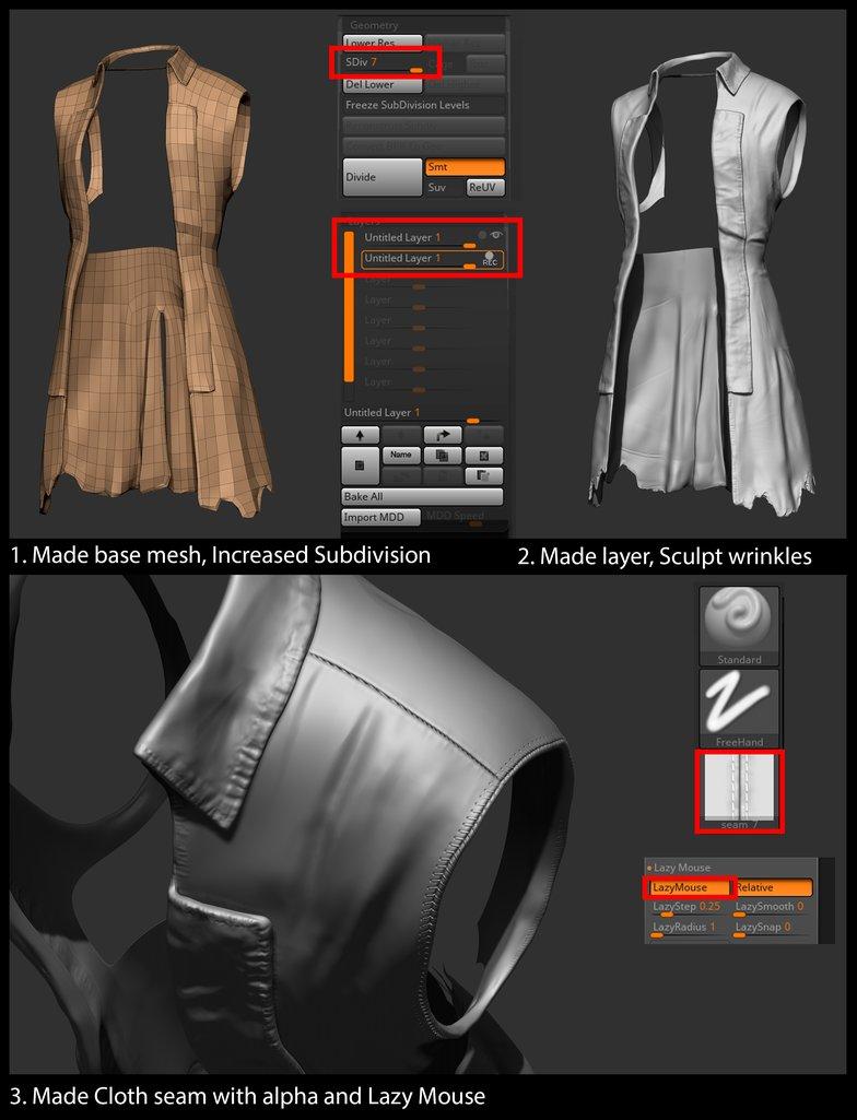 base mesh pirate clothing 3d model