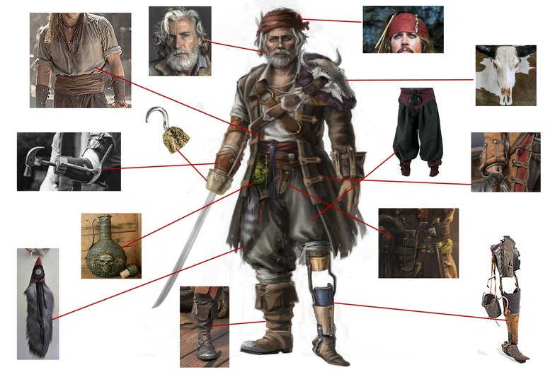 concept character art pirate