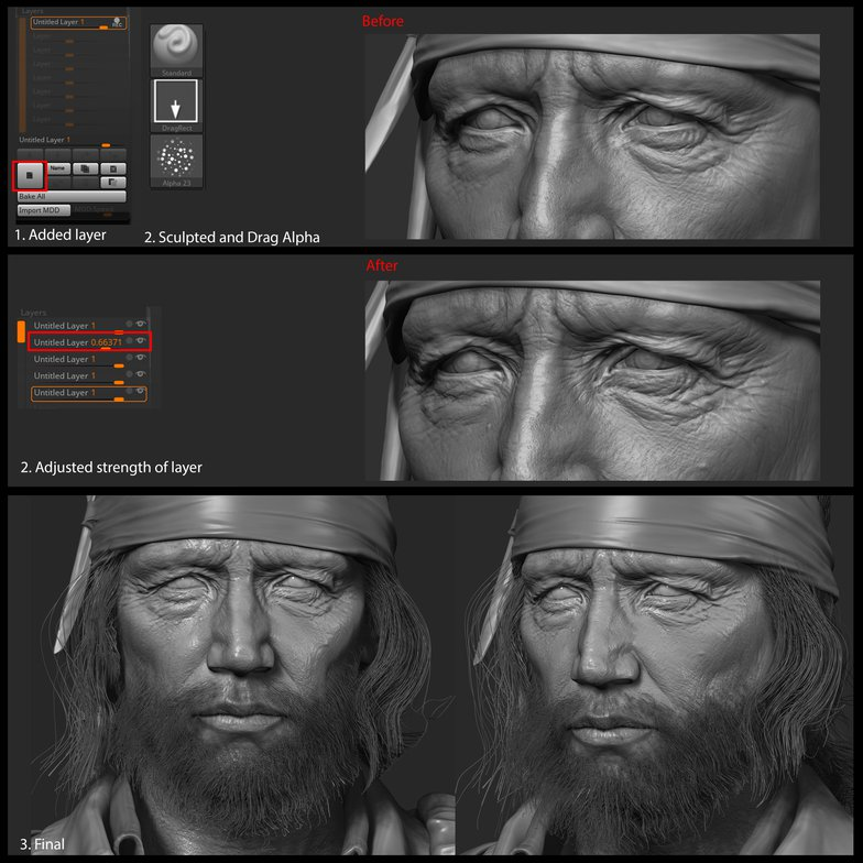sculpting alphas 3d male model