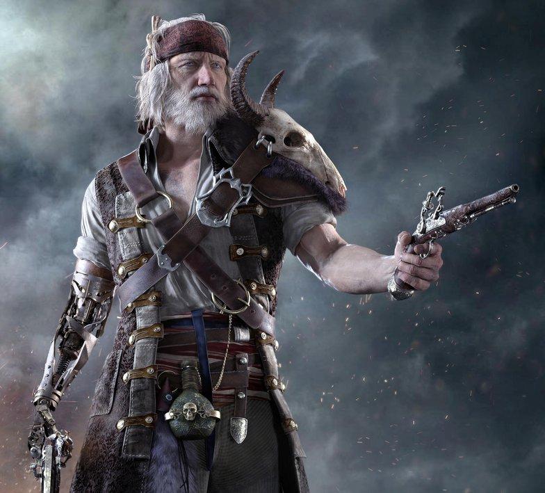 maya zbrush pirate styled character