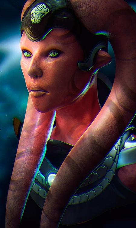 female character  creature design model render 3d