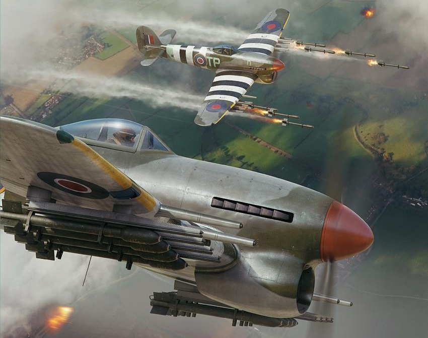 D-DAY Typhoons - Aerojournal coverby Piotr Forkasiewicz