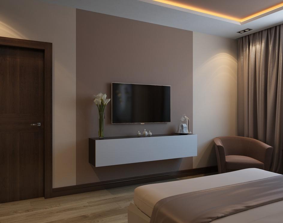 Cozy beige bedroomby Archviz.Studio
