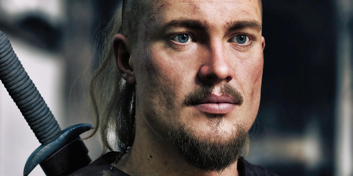 development lighting 3d viking male model realistic render sculpt warrior battleaxe