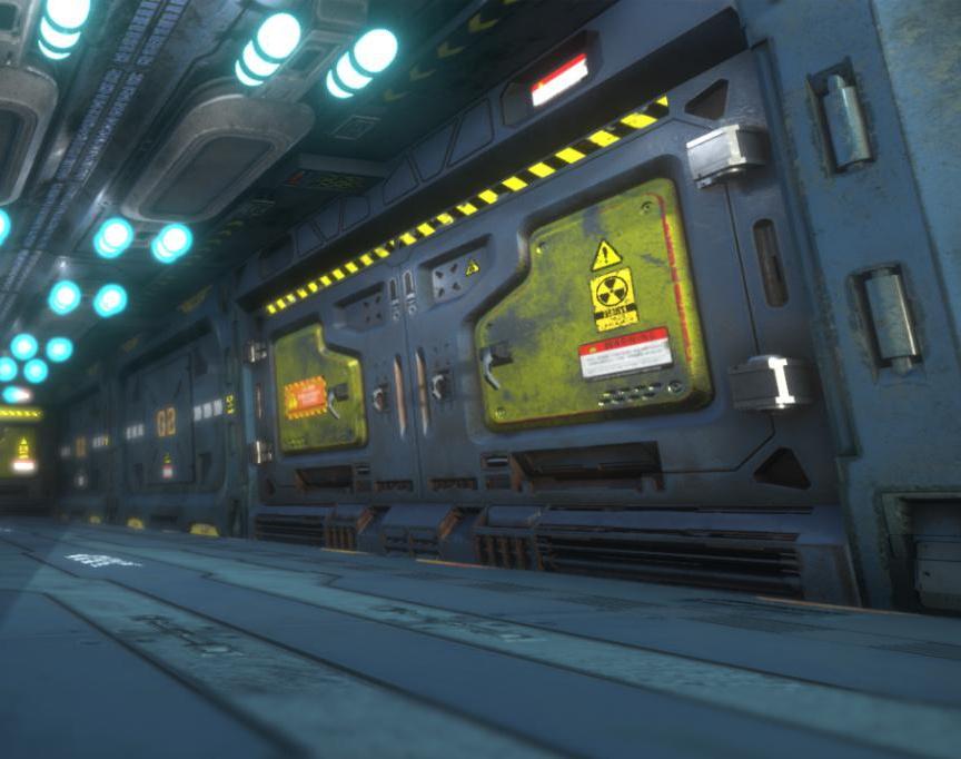 G2 Sci Fi Corridor - Unity Renderby Siamak Tavakoli