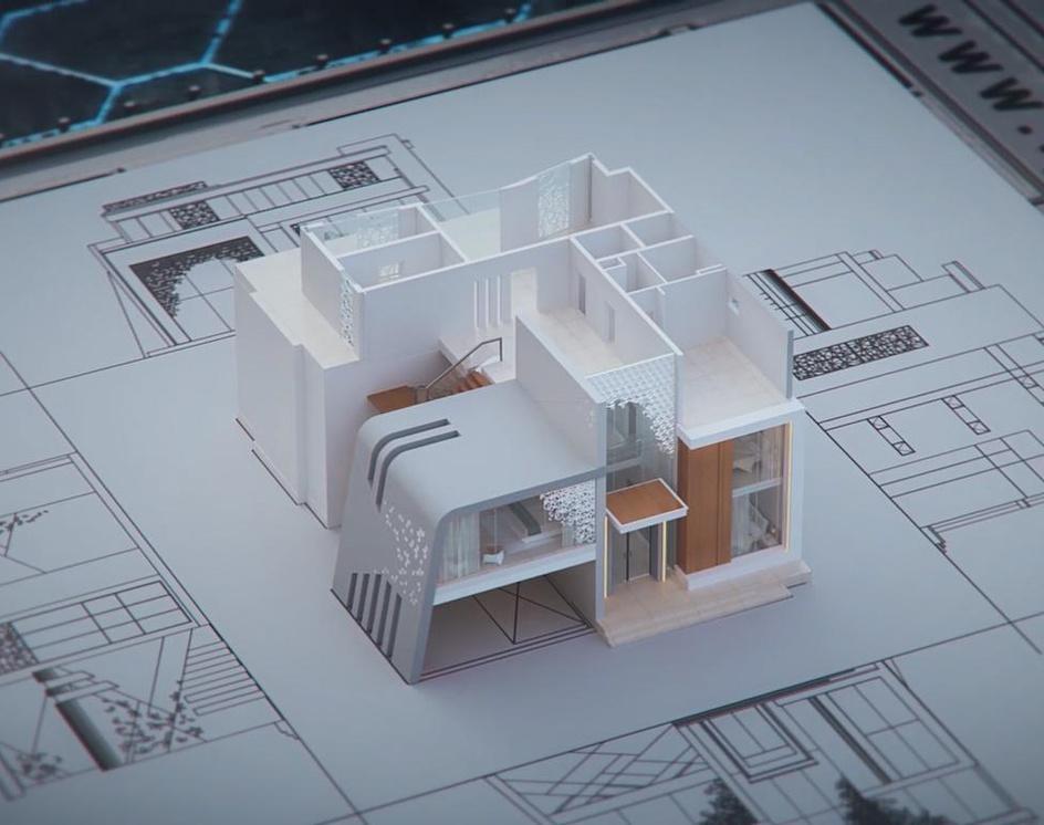 3d villa animationby hamid gholizadeh