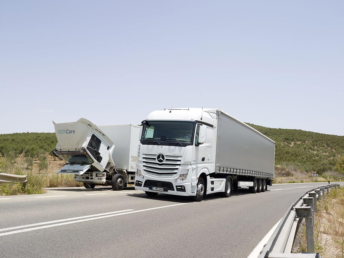 lorries in desert
