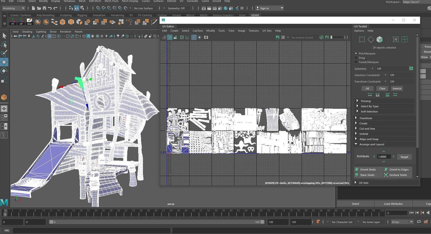 UDIM UVS mapping setting 3d planning