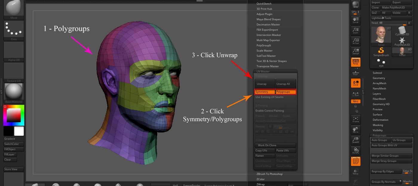 Cyberpunk 2077 3d male fanart UV polygroup